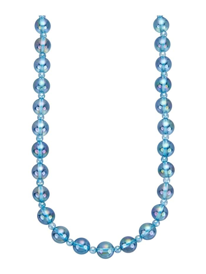 Halskette aus Aqua-Aura-Quarz, Blau