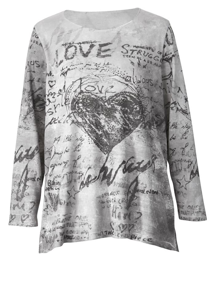 Pullover mit modischem Druck