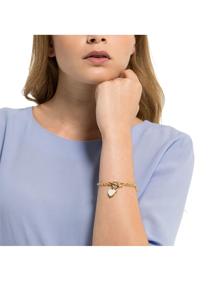GMK Damen-Armband Edelstahl 14 Zirkonia