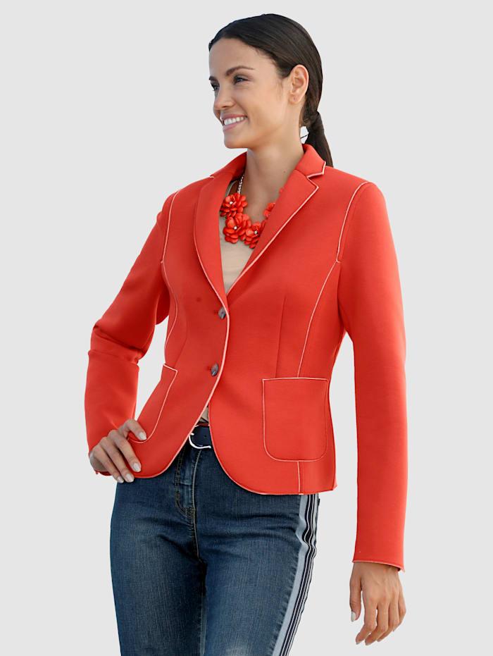 AMY VERMONT Jerseyblazer im sportiven Look, Orange