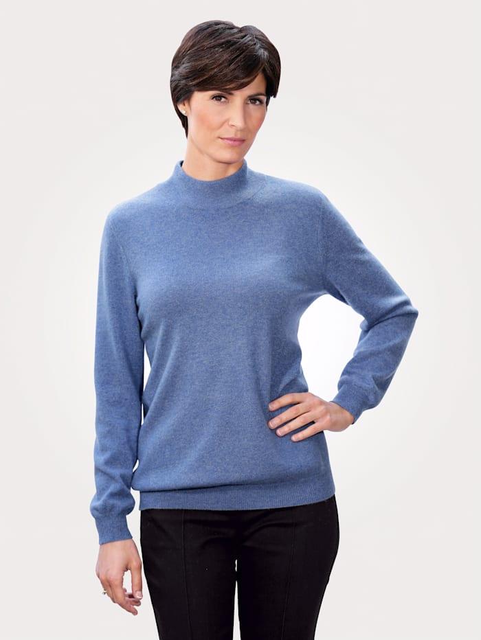 MONA Kaschmir-Pullover mit Stehkragen, Blau