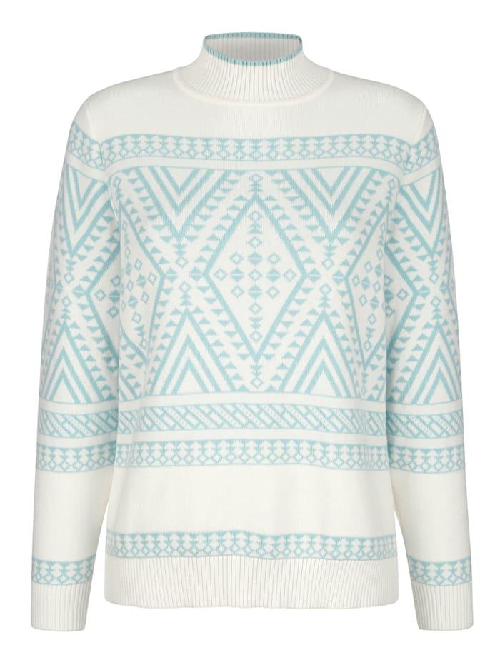 Pullover mit Norweger-Motiv