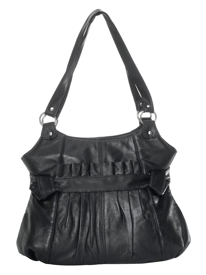 Handtasche mit modischer Raffung