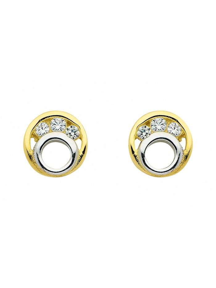 1001 Diamonds 1001 Diamonds Damen Goldschmuck 333 Gold Ohrringe / Ohrstecker mit Zirkonia, gold