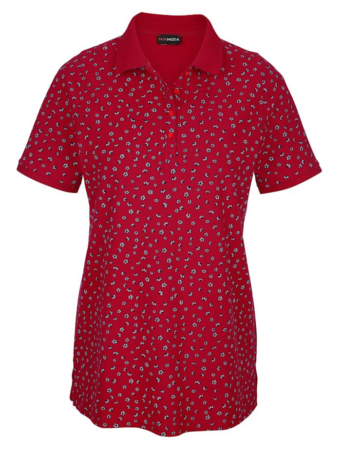 Poloshirt mit Blümchen bedruckt