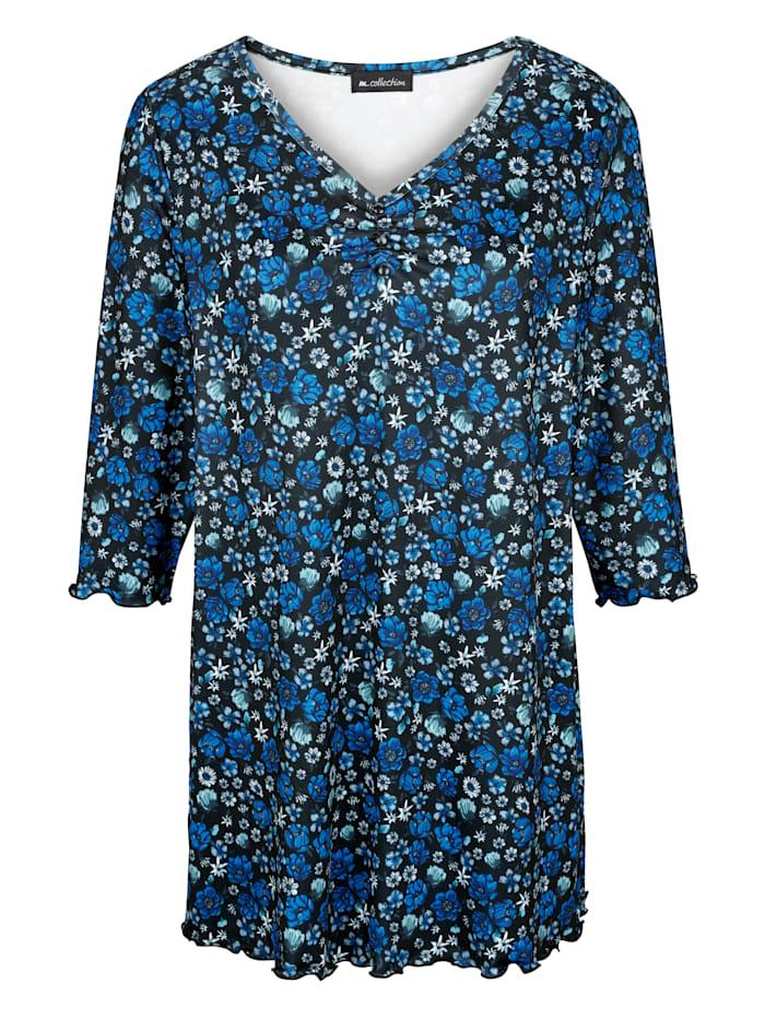 Longshirt mit floralem Druckdessin