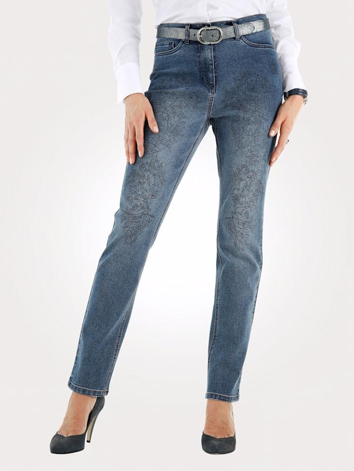 Jeans mit grafischem Druck