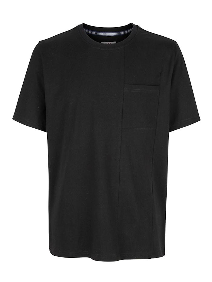 Roger Kent T-shirt med delningssömmar, Svart
