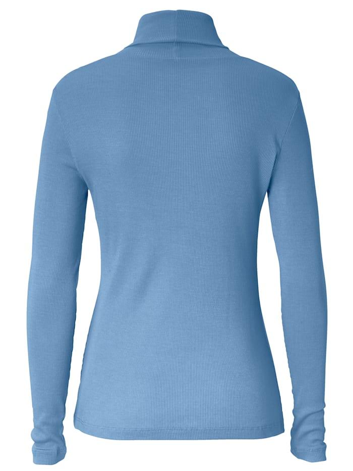 Rollkragen-Shirt aus Rippe