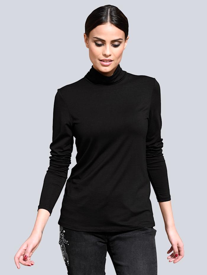 Alba Moda Shirt met col, Zwart