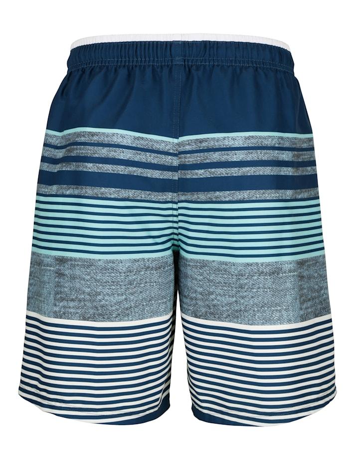 Koupací šortky v módním proužkovém vzhledu