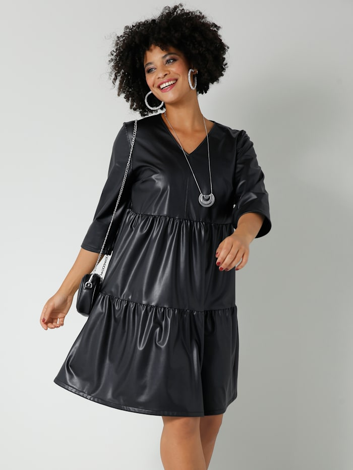 Kleid aus Lederimitat
