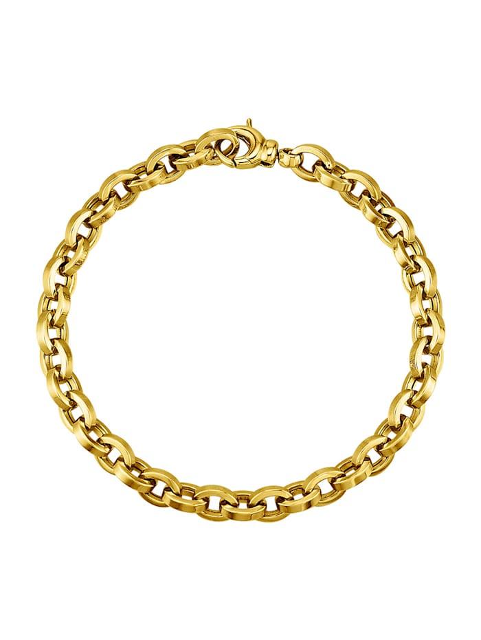 Ankerarmband in Gelbgold 375, Gelbgoldfarben