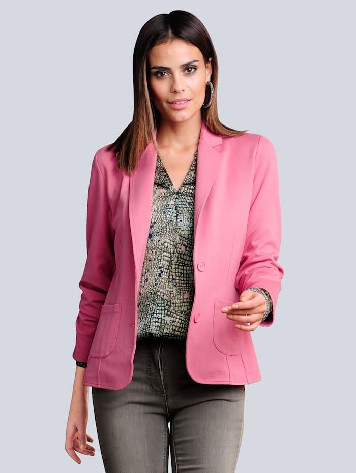 Alba Moda Blazer in Interlock-Qualität, Rosé