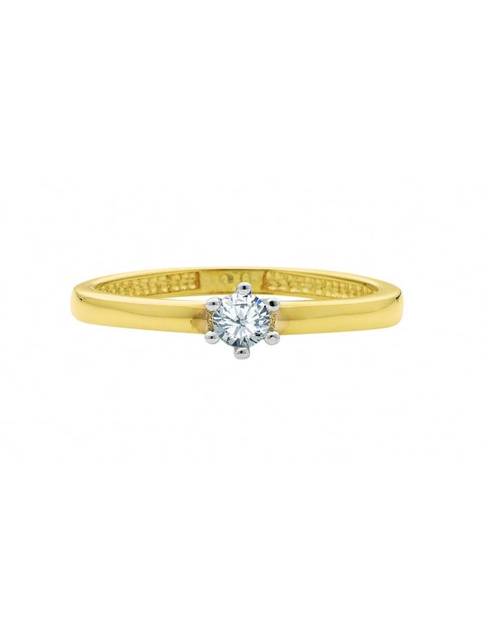 1001 Diamonds 1001 Diamonds Damen Goldschmuck 585 Gold Ring mit Zirkonia, gold