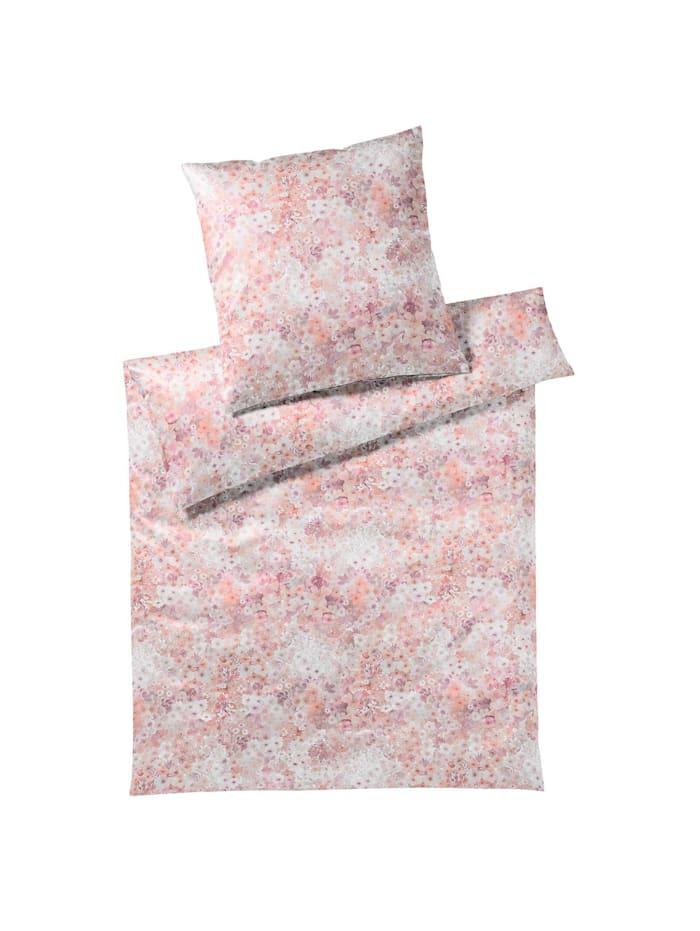 Elegante Mako-Jersey Bettwäsche Fiori rose, rose