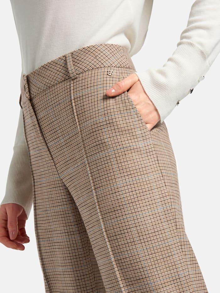 Hose mit Bügelfalten und Karo-Muster