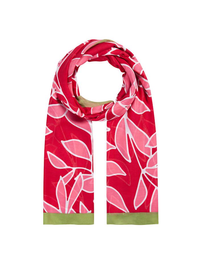 Codello Floraler Schal aus nachhaltiger LENZING™ ECOVERO™ Viskose, dark red