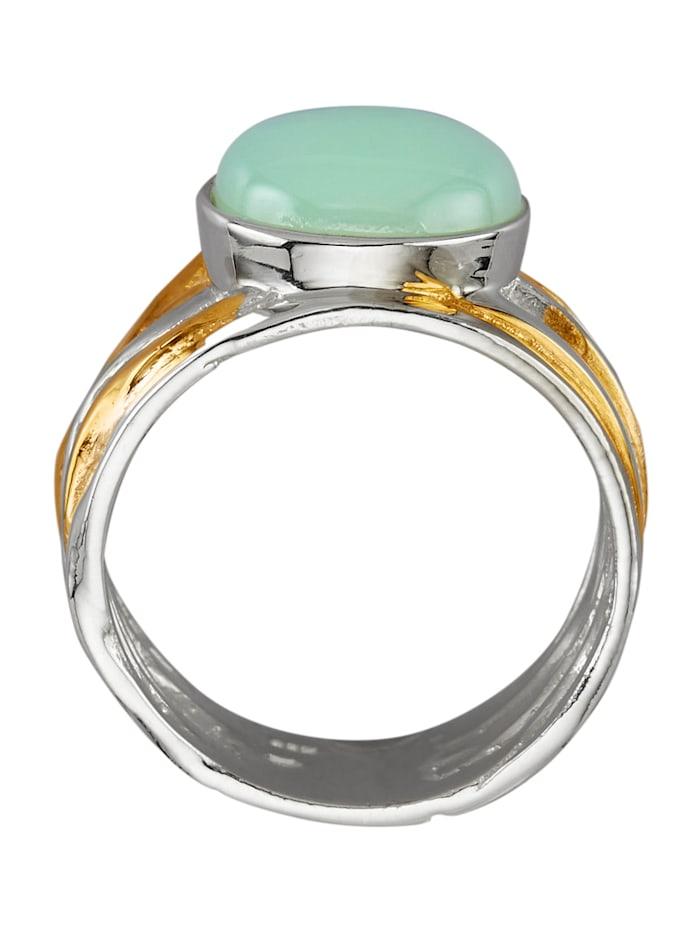 Damesring met 1 opaal-cabochon