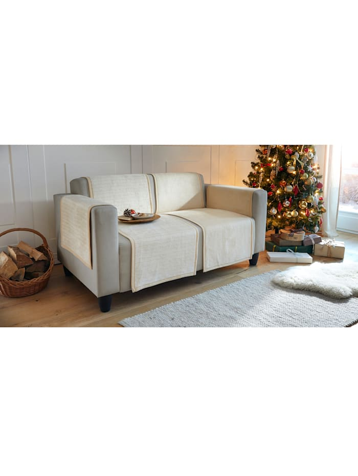 Ibena Jacquard meubelbeschermers Fano, Wolwit