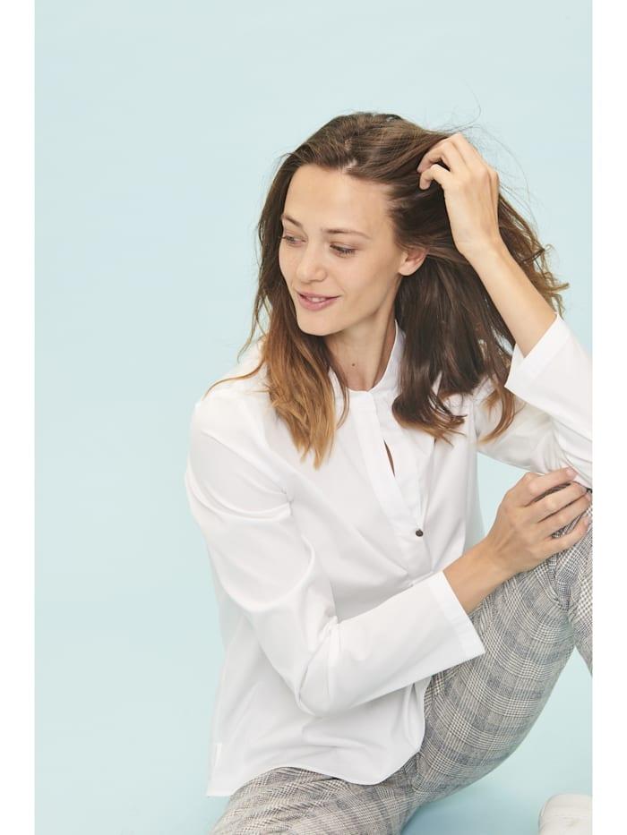 Moderne Bluse mit kleinem Stehkragen