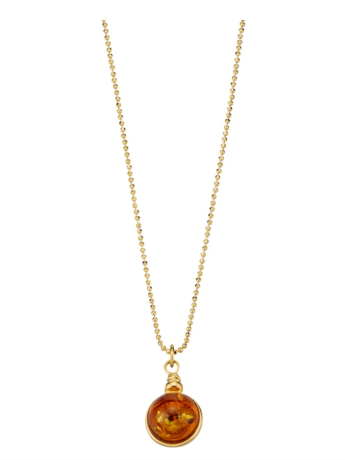 Collier mit Bernsteinen, Orange