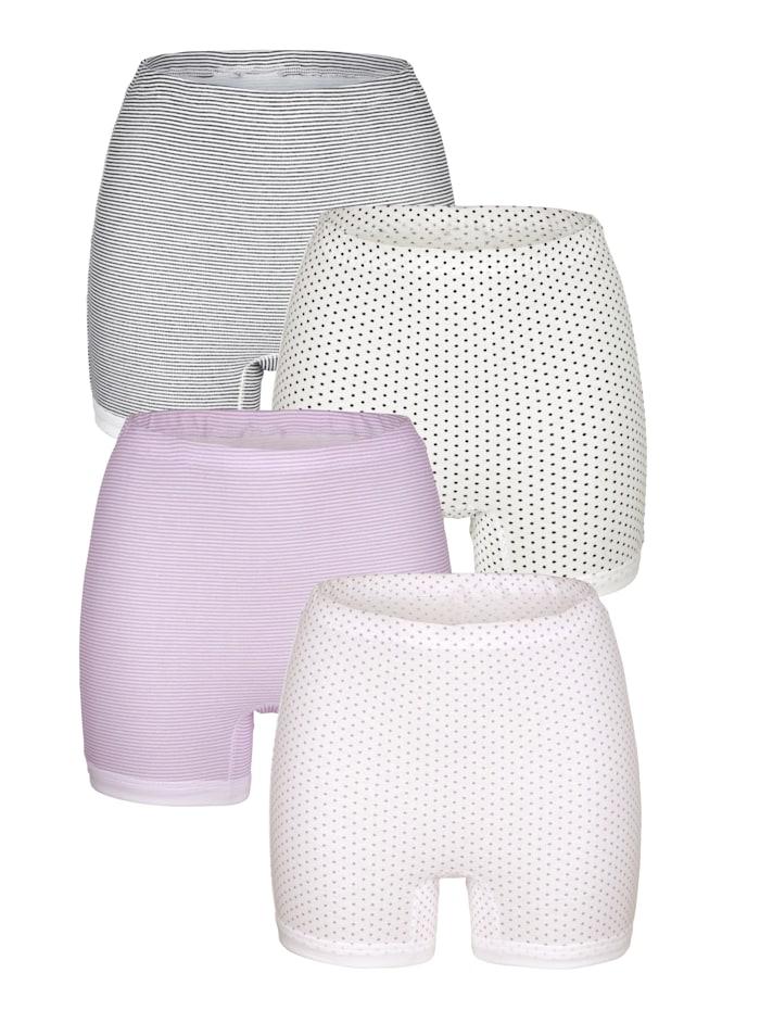 Harmony Lahkeelliset alushousut, 4/pakkaus, Syreeni/Laivastonsininen