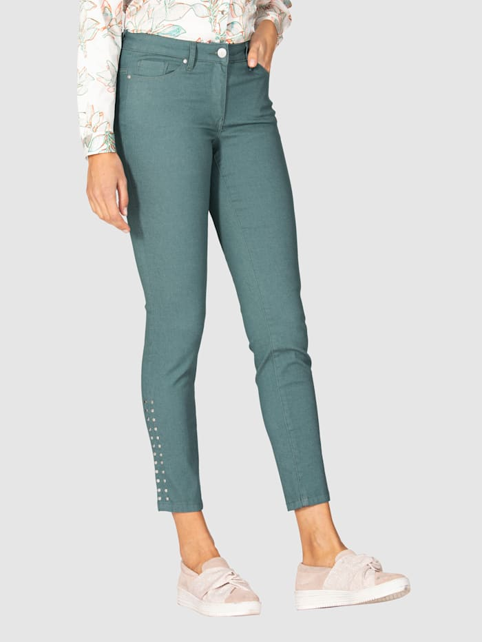 AMY VERMONT Jeans met klinknageltjes, Mint