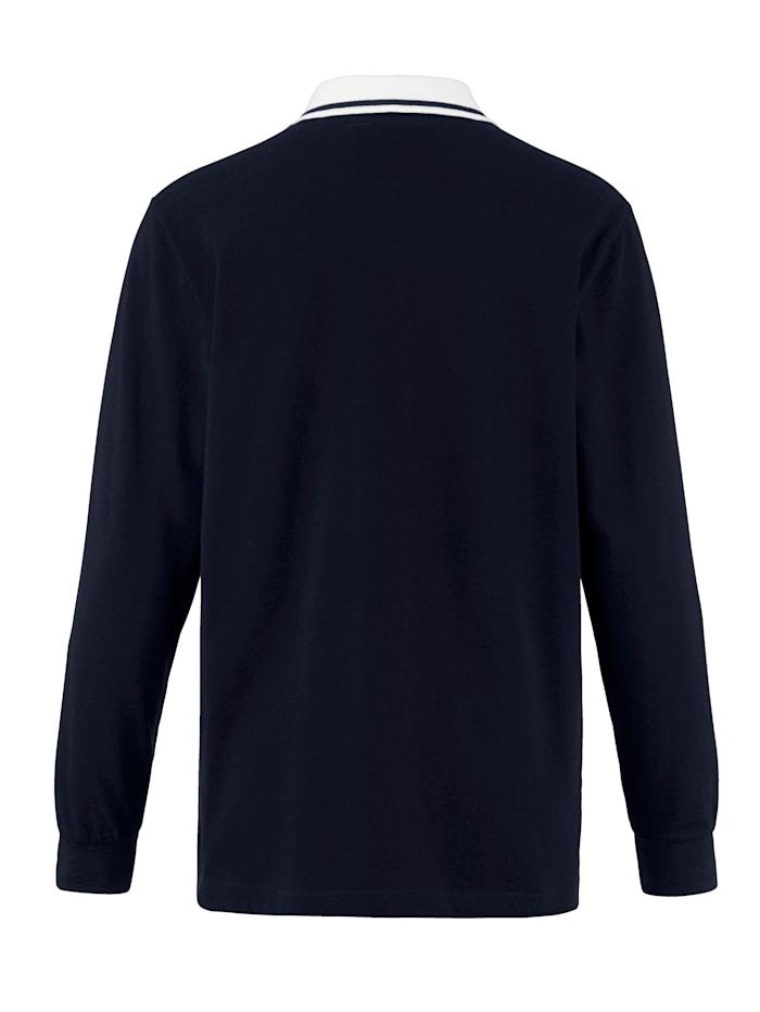 Poloshirt met patchworkinzetten