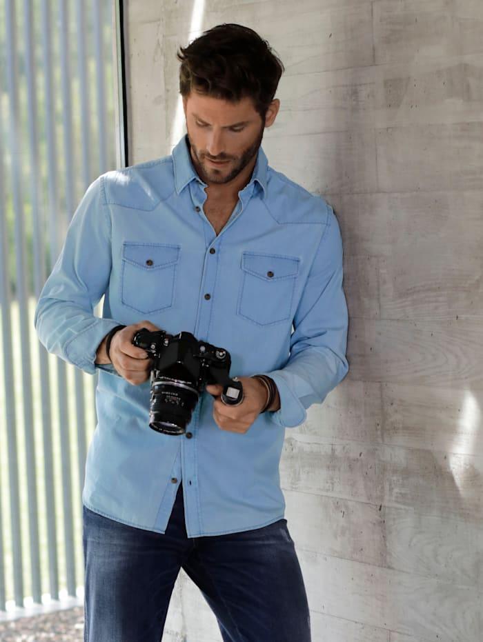 BABISTA Jeansoverhemd met zachte touch, Lichtblauw