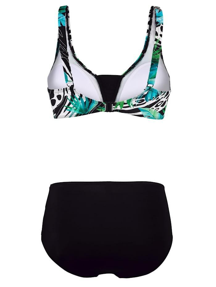 Bikini met trendy jungledessin