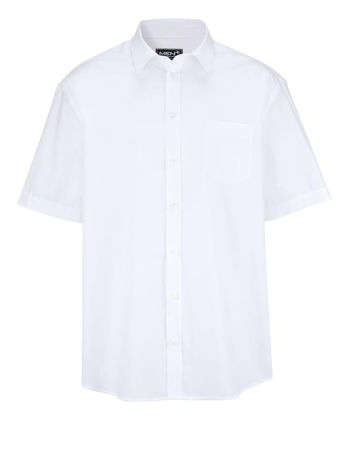 Men Plus Chemise à manches courtes de style classique, Blanc