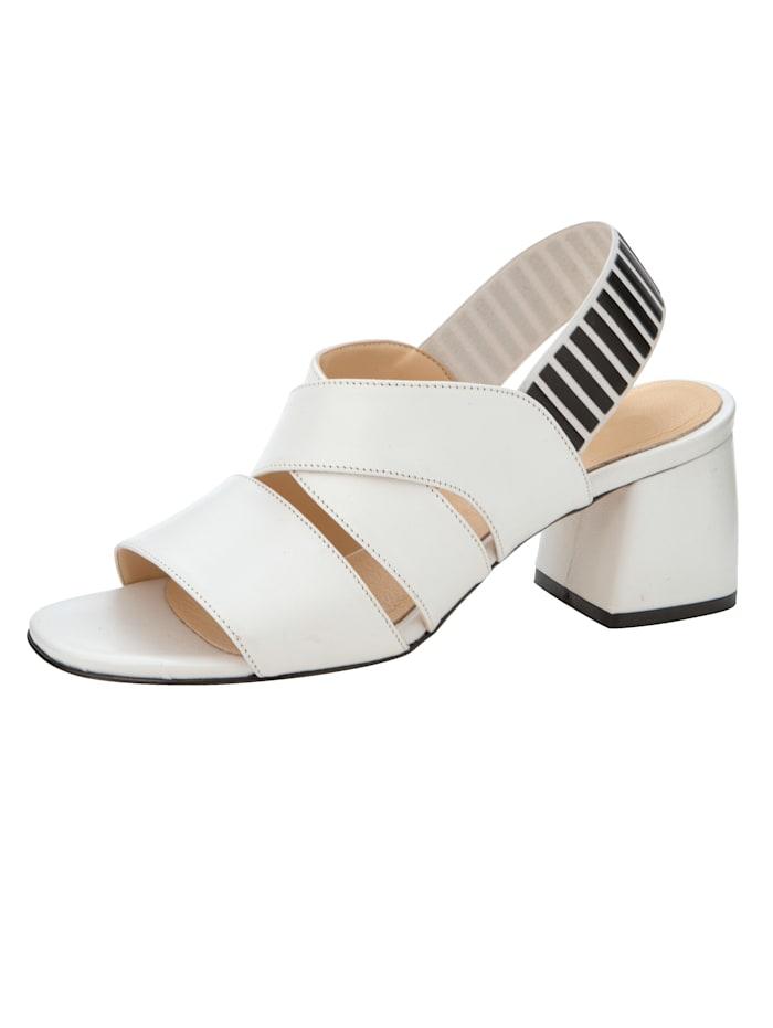 Sandaletter med elastisk hälrem, Vit