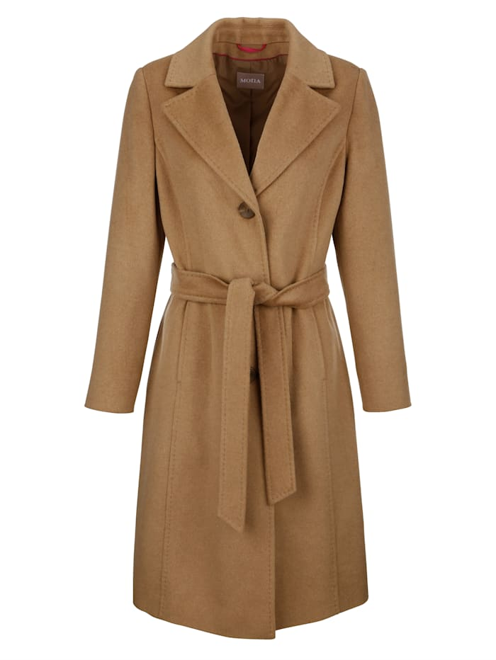 Coat with a tie waist