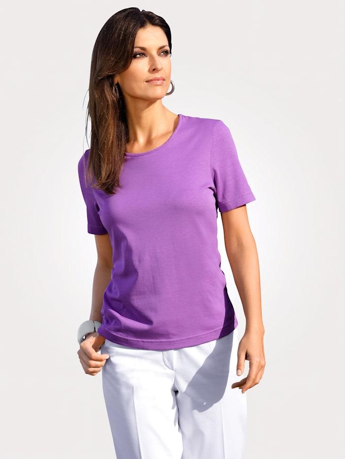 MONA Shirt mit Pima Baumwolle, Lila