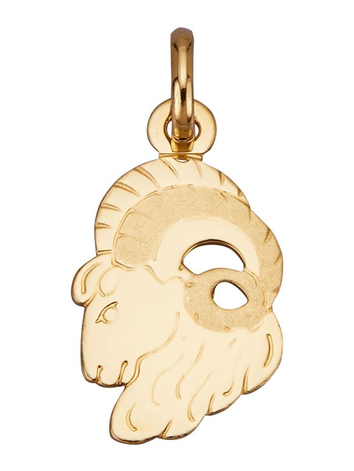 Diemer Gold Sternzeichen-Anhänger 'Widder' in Gelbgold 750, Gelbgoldfarben