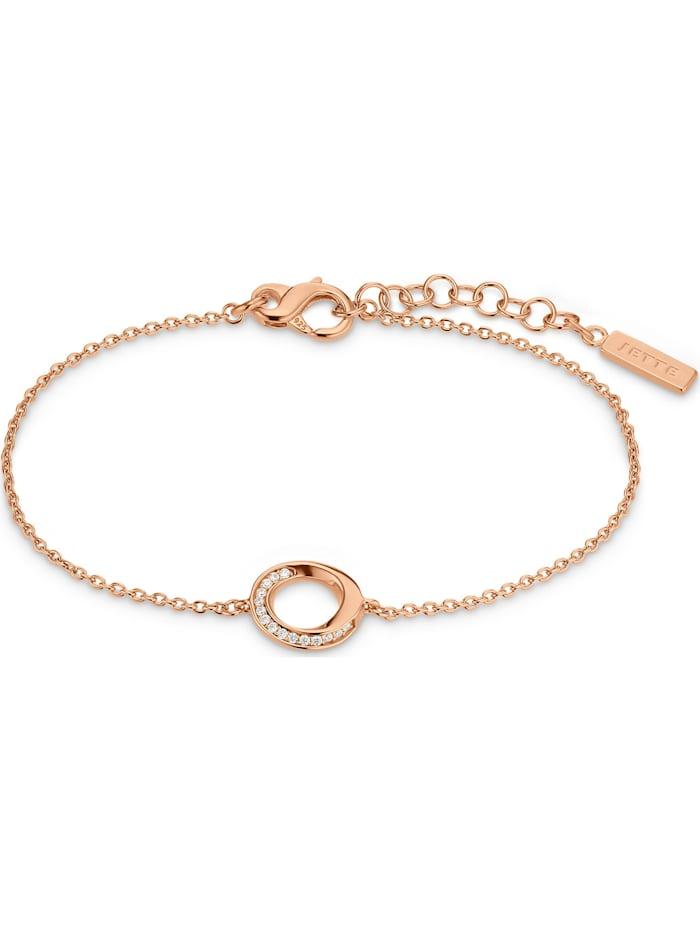 Jette JETTE Silver Damen-Armband 925er Silber, roségold