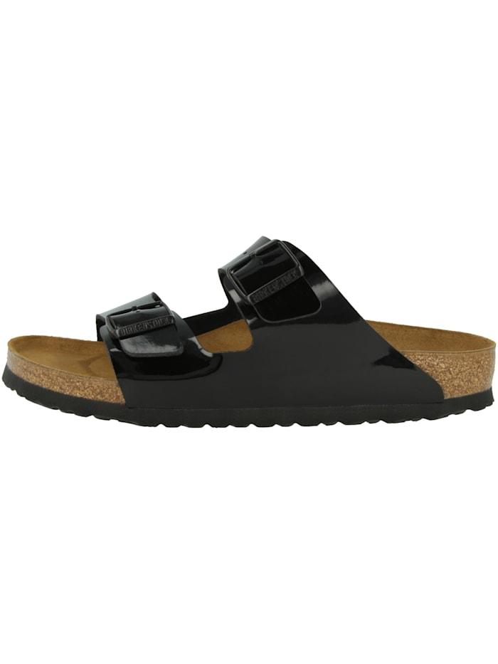 Birkenstock Sandale Arizona Birko-Flor Lack normal, schwarz