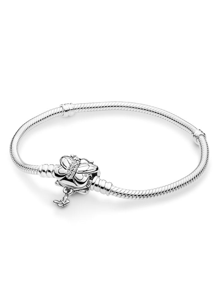 Pandora Armband -Dekorativer Schmetterling-, Weiß