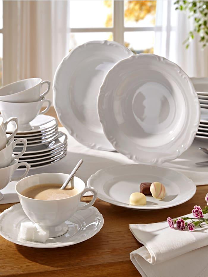 Creatable Service en porcelaine blanche Maria Theresia, Blanc