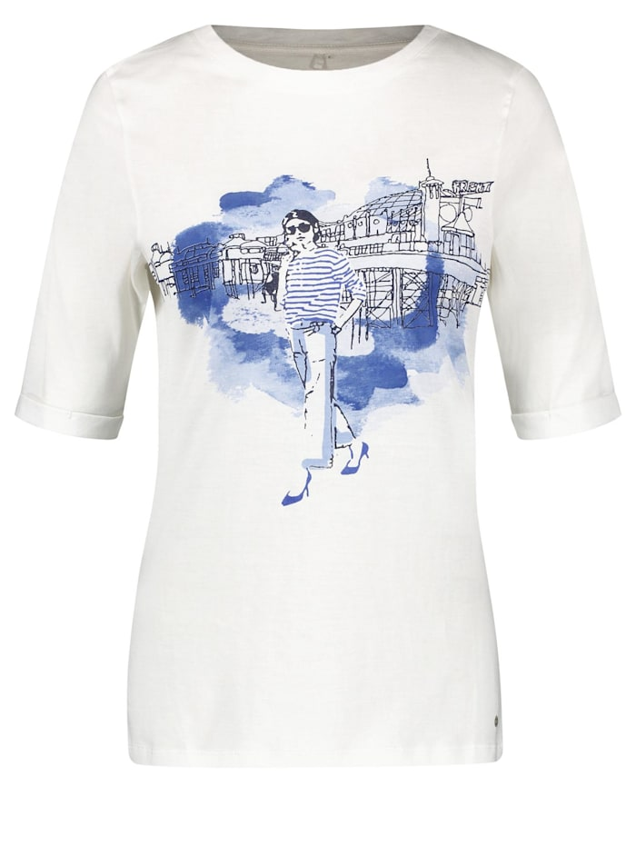 Gerry Weber Shirt mit Picture Print organic cotton, Off-white