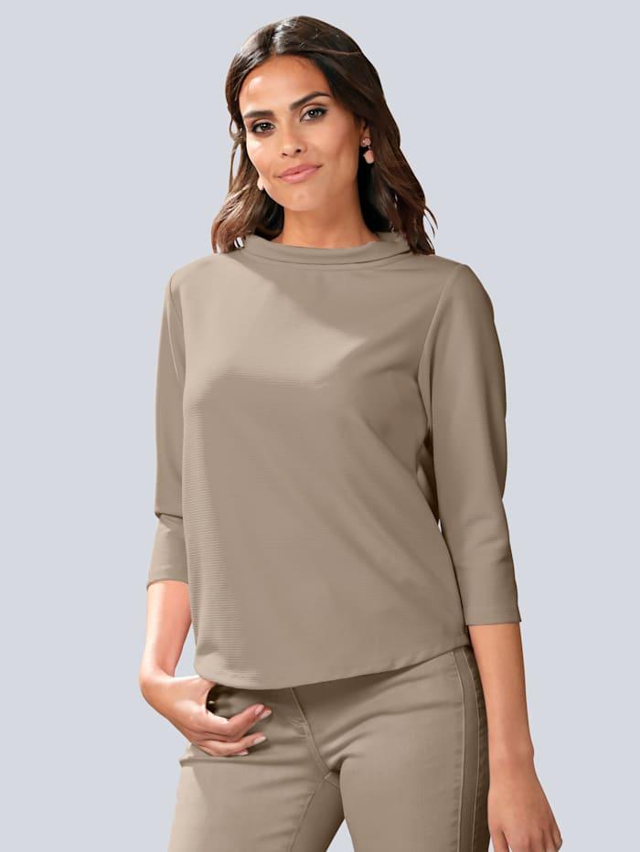 Alba Moda Tričko se širokým stojatým límcem, Bahenní