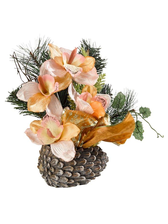 IGEA Orchideen auf Zapfen, Gold