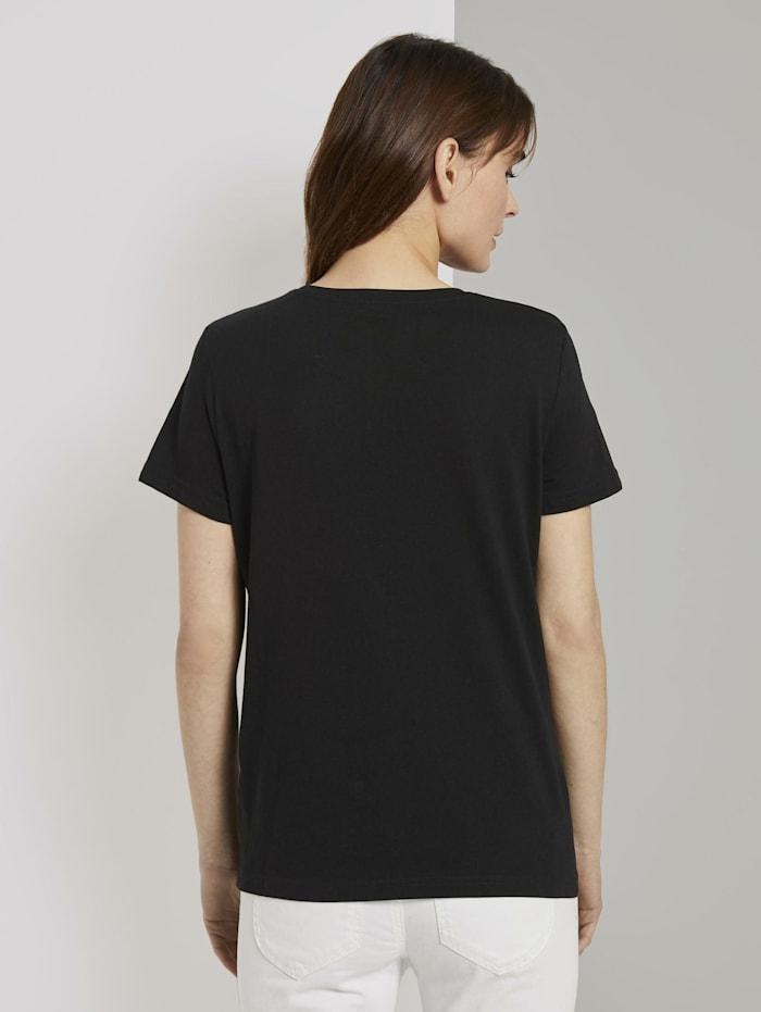 Basic T-Shirt mit kleinem Print