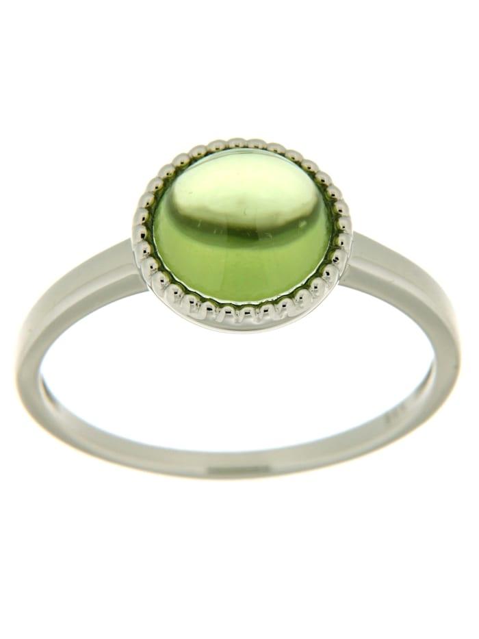 Orolino Ring 585/- Gold Peridot grün Glänzend 585/- Gold, weiß