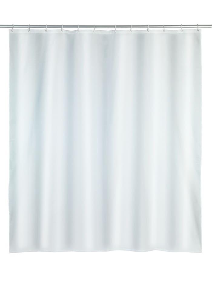 Wenko Duschvorhang Punto Weiß, Textil (Polyester), 180 x 200 cm, waschbar, Weiß