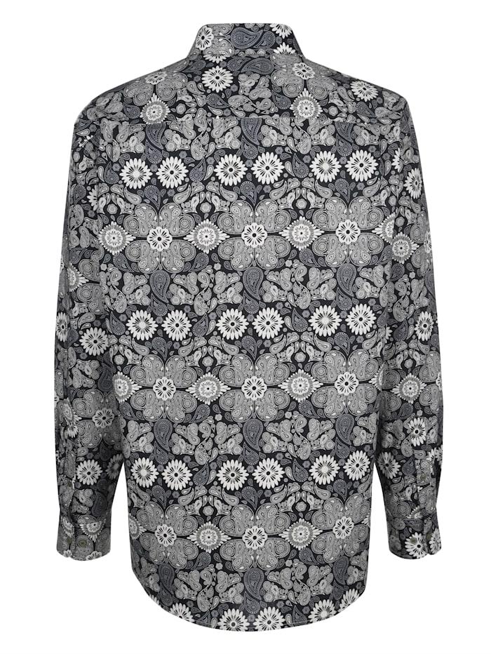 Overhemd met paisley- en bloemenprint
