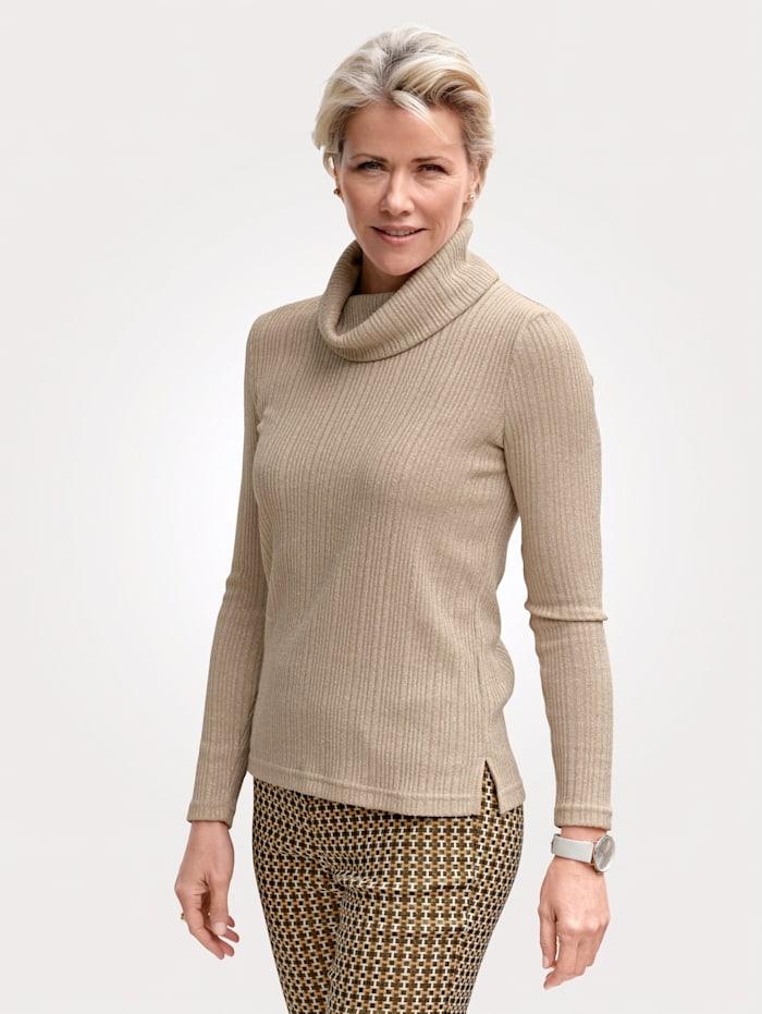 MONA Pullover mit Glanzgarn, Beige