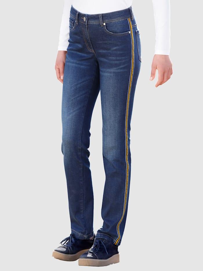 Dress In Jeans in Laura Slim model, Dark blue/Geel