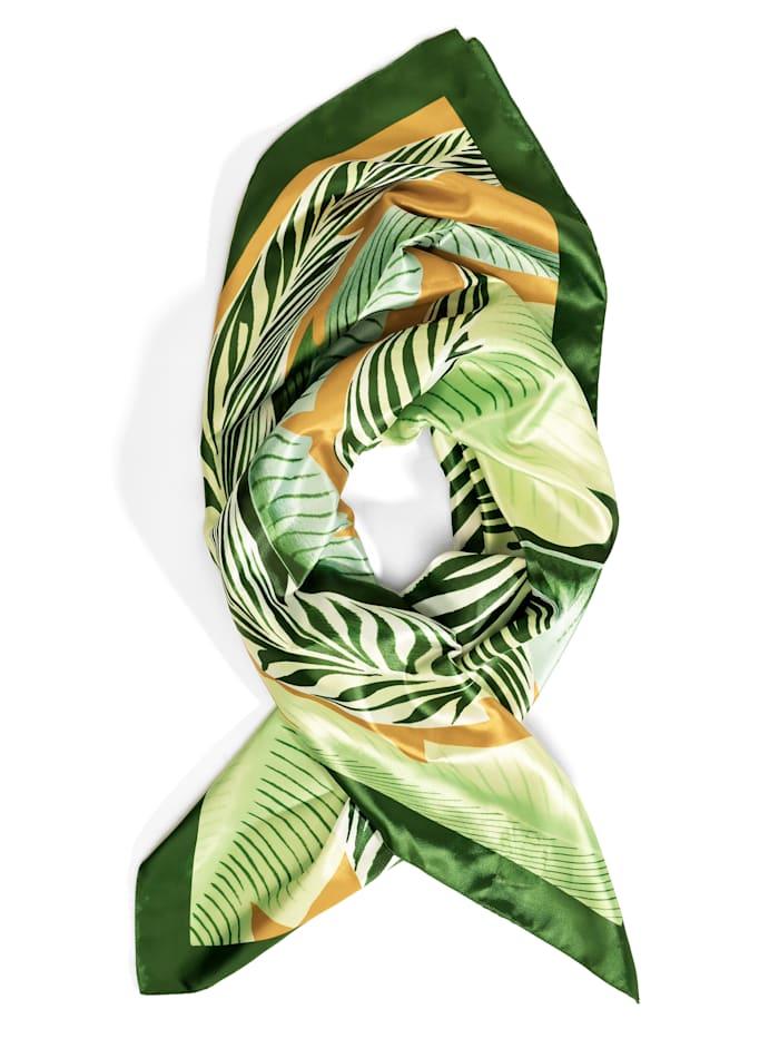 Alba Moda Sjaaltje in satijnlook, groen